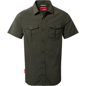 Craghoppers NosiLife Adventure Shirt Korte Mouwen Heren, dark khaki